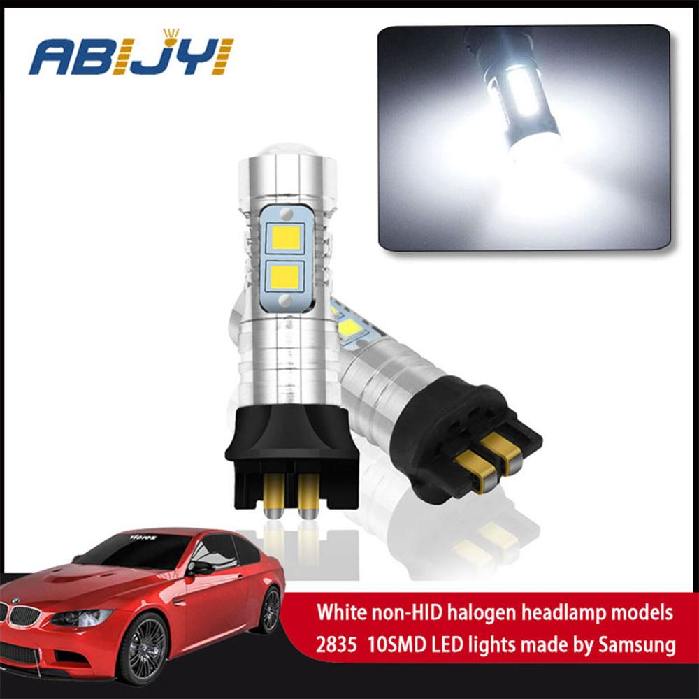 For <font><b>BMW</b></font> F30 3-Series 320i 328i 335i Volkswagen MK7 Golf GTi 2PC Error Free PW24W LED Replacement <font><b>Bulbs</b></font> For <font><b>Daytime</b></font> <font><b>Running</b></font> <font><b>Light</b></font> image