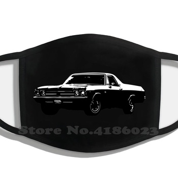 El Truck Design Black Breathable Reusable Mouth Mask El Camino Chevrolet El Camino Chevy Chevrolet Muscle Car Truck Gm V8 image