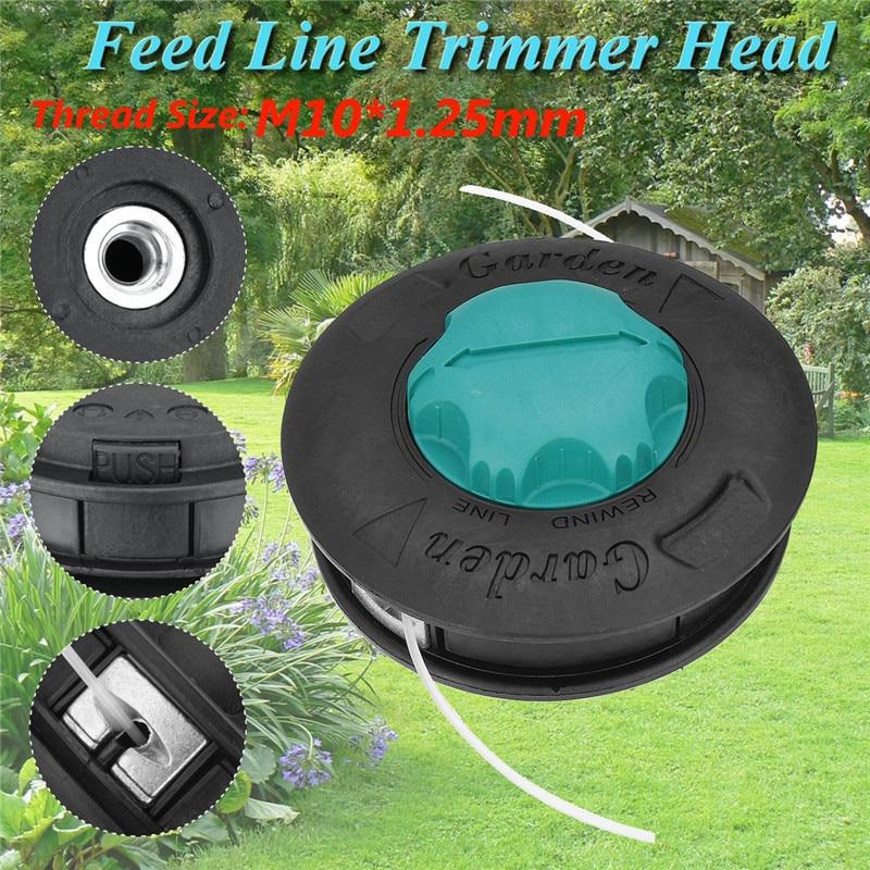 Green M10 Aluminum Nylon Brush Mower Bump Spool Grass Trimmer 2 Lines Cutter Head Thread Line String Saw Grass Brush Mower