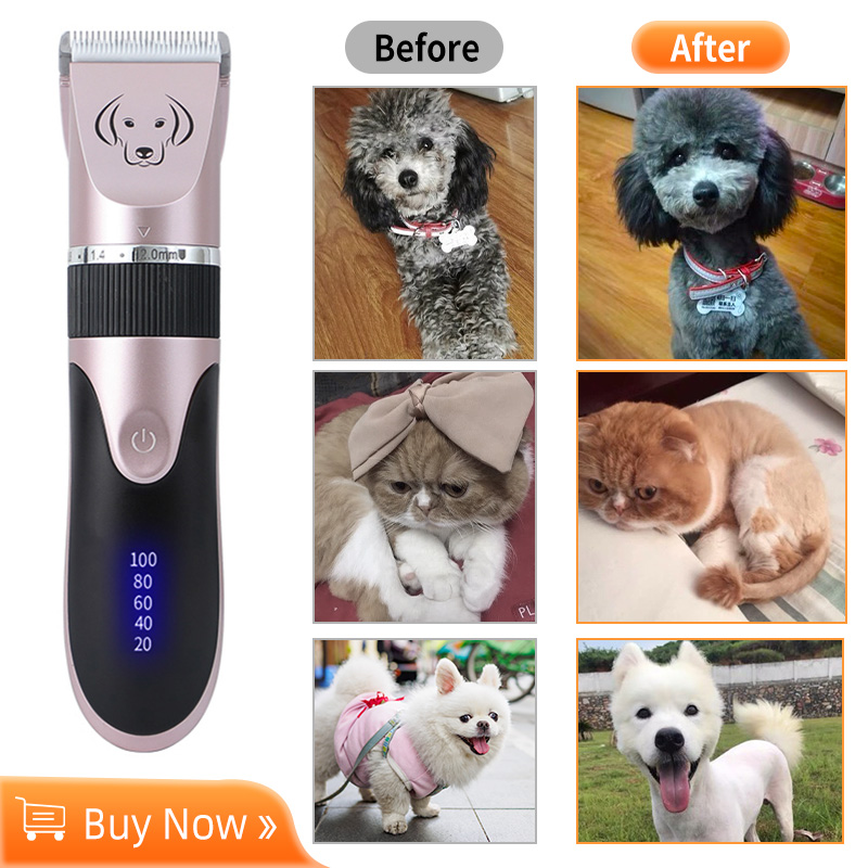 Professional Pet Dog Hair Trimmer Rechargeable Animal Grooming Clippers Cat Cutter Machine Shaver USB Electric Scissor Clipper