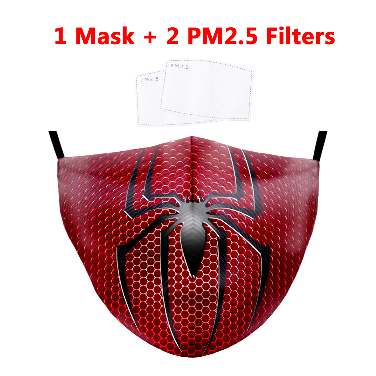 Fashion Marvel Spiderman LOGO 3D Print Mask Washable PM2.5 Filter Mouth Cover Face Reusable Mask Dust Bacteria Proof Flu Masks