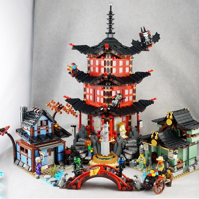 06022 10427 Ninjagoes Series Temple Of Airjitzu Building Blocks 2051pcs Bricks Model Toys Gift Compatible Ninjagoes 70751