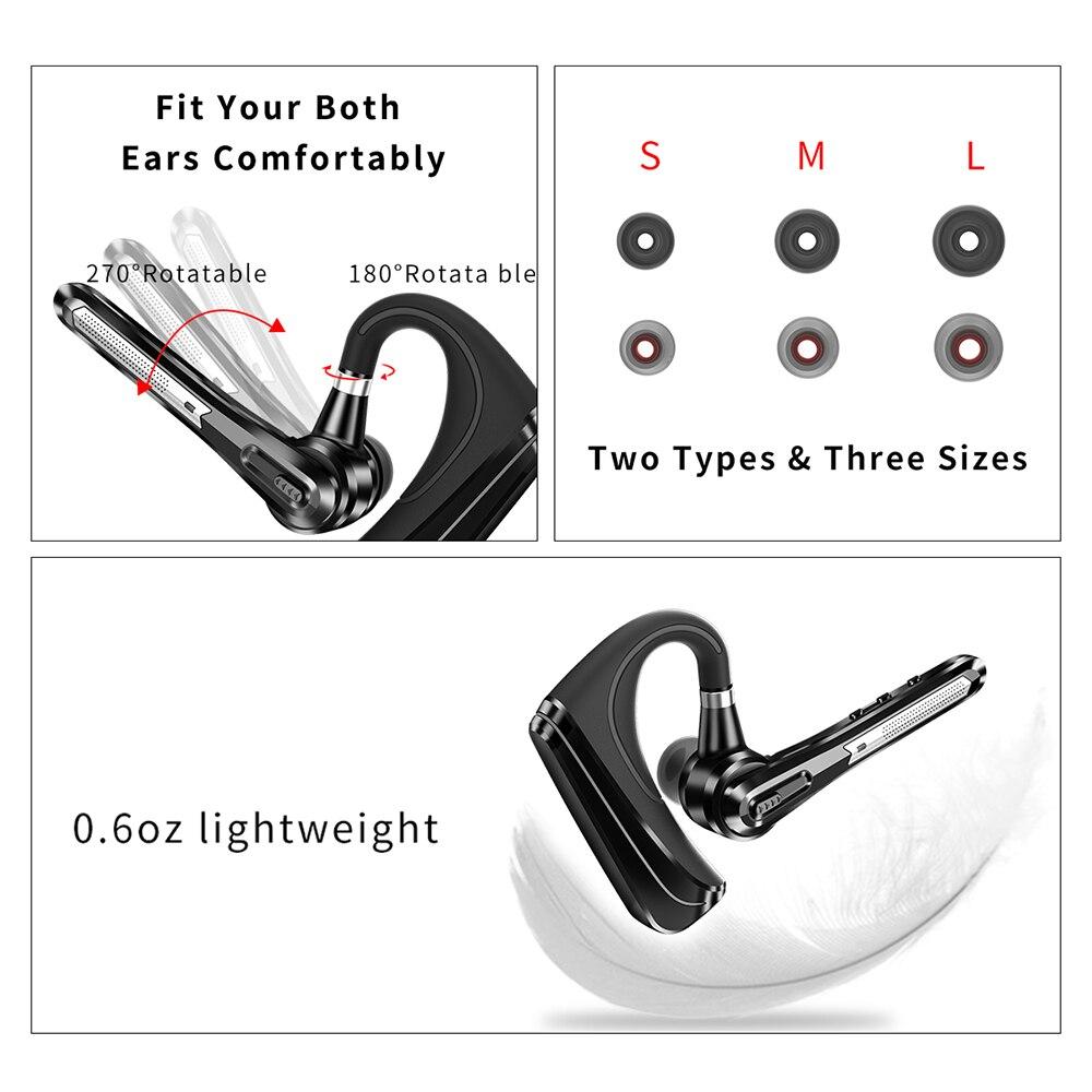 Наушники с Bluetooth последней модели беспроводные наушники, стерео гарнитура с cVc8.0 двойным микрофоном, шумоподавление для всех смартфонов