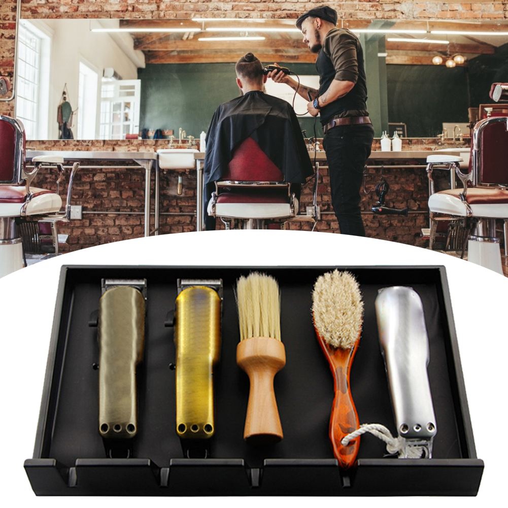 Electric Clippers Display Rack Practical Salon Case Hair Scissor Box Holder Storage Box Barber Professional Hairdressing Tools