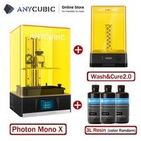 Anycubic Photon Mono X stampante 3D 8.9 '4K LCD monocromatico grande formato di stampa 192*120*245mm supporto APP telecomando impresora 3d