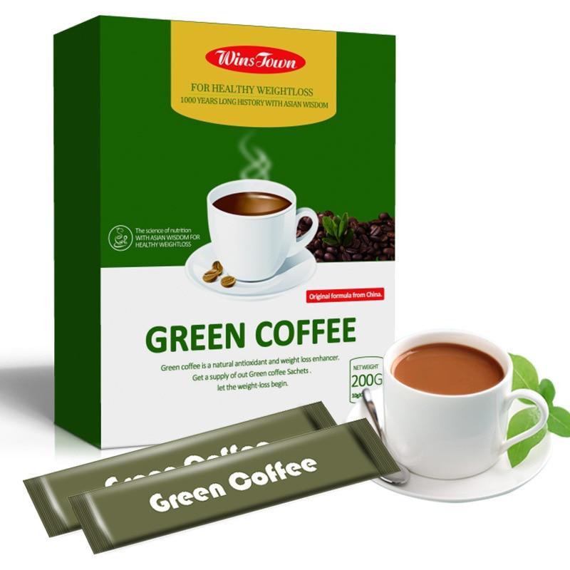 18 Teabags Slim Green Coffee with Ganoderma Control Weight Detox Tea Weight Loss Slimming Fat Burning Health Tea Diet Pills 7