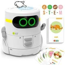 Обучающая игрушка робот танцующий Поющий карточный игра сенсорный