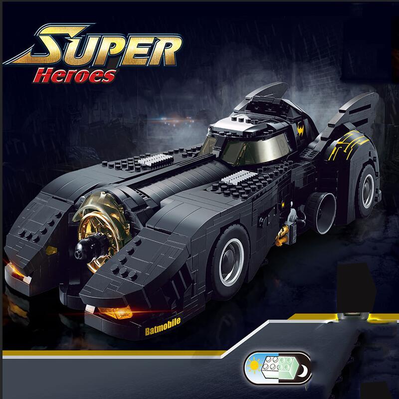 New DC Superheroes Movie Batman Batmobile Model Building Blocks Bricks  Marvel Super Hero Figures Toys For Kids
