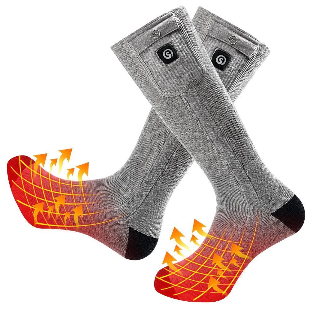 SAVIOR chaussettes chauffantes lithium batterie chaussettes chauffantes sports de plein air hiver chaud équitation ski chauffant chaud 10 dollar coupon