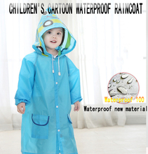 New Childrens Cartoon Animal Style Waterproof Raincoat Non-Disposable Environmental Protection rain Cover Student Anti-poncho