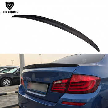 For BMW F10 Spoiler Performance 2010 - 2016 5 Series Sedan F10 Carbon Spoiler Lips F10 M5 Rear Trunk Wings car styling - DISCOUNT ITEM  30 OFF Automobiles & Motorcycles