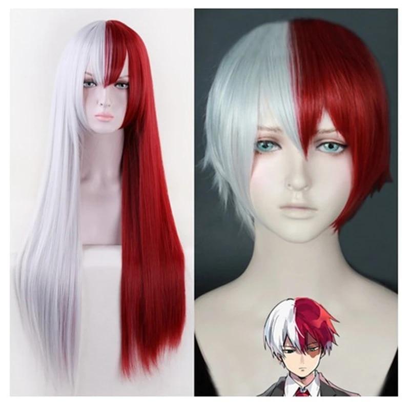 My Boku no Hero Academia Todoroki Shouto Short Cosplay wig Red with white color