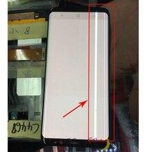 لسامسونج S9 LCD عرض اللمس G960 G965 LCD عرض لسامسونج S9 زائد LCD الفرقة خط عرض الهاتف المحمول شاشة معيبة