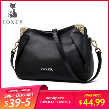 FOXER Brand Female Chic Crossbody bag Women Genuine leather Messenger Bag Lady Fashionable Style Casual Bags - DISCOUNT ITEM  45% OFF All Category
