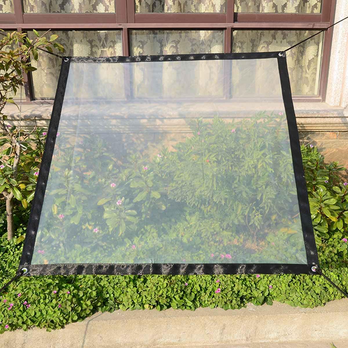 Прозрачная утолщенная непромокаемая палатка тент ткань Сад Балкон окно цветы Урожай теплица водонепроницаемая ткань брезент окантовка
