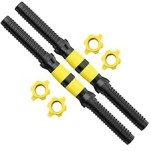 1 Pair of Dumbbell Bars Threaded Dumbbell Handle Set Home Gym Fitness Exercise Adjustable(China)