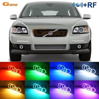 RF remote Bluetooth APP Multi-Color RGB LED Angel Eyes kit For Volvo C30 2006 2007 2008 2009 pre Facelift headlight fog light