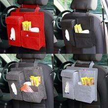 Мульти-карман автомобиль спинки сиденья организатор шерсть чувствовал контейнер для хранения многофункциональный висит ящик для хранения автомобиля мешок автомобиль-стайлинг