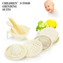 7 шт./компл. детская пищевая добавка, шлифовальная чаша для детей, многофункциональная фруктовая овощерезка для младенцев, шлифовальная ложка-Веретено