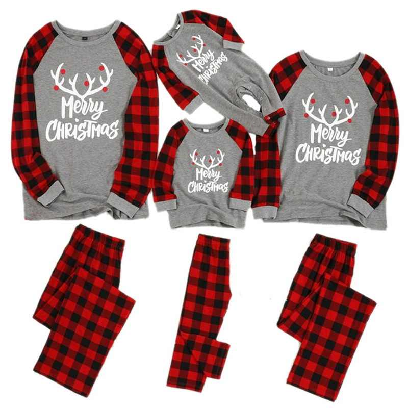 New Family Pajamas Sets Mom Father Kids Nightwear Christmas Parents-Child Home Clothes Suits Family Sleepwear Matching Sets