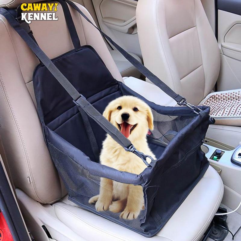 CAWAYI KENNEL Travel pokrowiec na siedzenie samochodowe składany hamak nosidełka dla zwierząt torba do przenoszenia dla kotów psy transportin perro autostoel hond