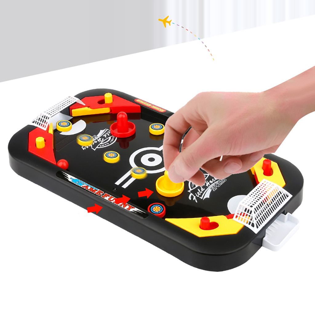 Mini Hockey Table Game For Kids Soccer Ice Desktop Interactive Toy Anti stress Funny Gadgets Family