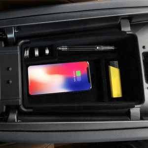 Image 4 - Mobiele Telefoon Draadloos Opladen Centrale Opbergdoos Voor 2016 2018 Maserati Levante/2014 2018 Ghibli/2015  2018 Quattroporte