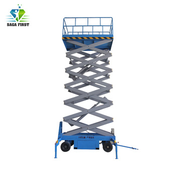Indoor mobile hydraulic electric scissor lift equipment for Aerial Working Supermarket Used