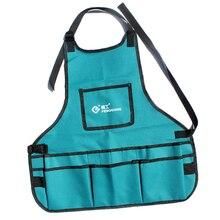 Einstellbare Wasit Gürtel Langlebig Gartengeräte-Heavy Duty Oxford Tuch Arbeit Schürze mit Werkzeug Taschen (14)