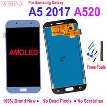 ЖК-дисплей для Samsung Galaxy A5 2017 A520 ЖК-дисплей сенсорный экран дигитайзер стекло сборка Замена для Samsung A520F SM-A520F ЖК-дисплей