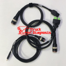 OBD2 OBDII 88890304 + 8 دبوس 88890306 + USB 88890305 كابل التشخيص لفولفو فوكوم 88890300 ومحول فوكوم الثاني (88894000) vocom2