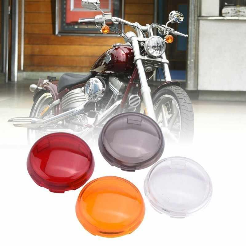 SPELAB 1PCS Motorrad Blinker Licht Anzeige Objektiv Abdeckung Für Harley Sportster 883 1200 Touring Road King Dyna Heritage