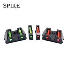 De fibra óptica frente vista trasera rojo fibra verde pistola lugares Glock táctico caza Accesorios