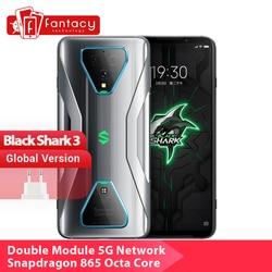 Глобальная версия черного цвета с изображением акулы 3 5G Snapdragon 865 8 ГБ 128 игры телефон Octa Core 64MP тройной AI камерами 65 Вт 4720 мА-ч
