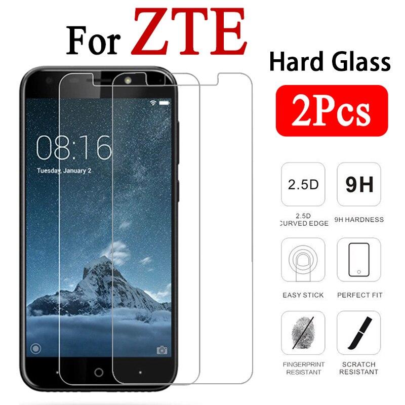2PCS Film Protective Glass For ZTE Blade V6 V7 V8 Lite Mini Movie HD Screen Protector For ZTE V9 V10 Vita X3 X5 Transparent Hard