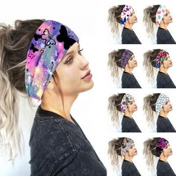 Szerokie rozciągliwe opaski na głowę 2020 kobiet drukuj Headwrap Turban nakrycia głowy eleganckie opaski do włosów koreańskie szerokie opaski do włosów akcesoria tanie i dobre opinie POLIESTER WOMEN Dla osób dorosłych moda Hairband Elastic Hair Accessories Fashion Headwear hair accessories for women