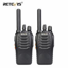 Retevis h777 plus pmr 446 walkie talkies 2 pcs acessível rádio em dois sentidos profissional walkie talkie rádio staion frs rádio para a caça