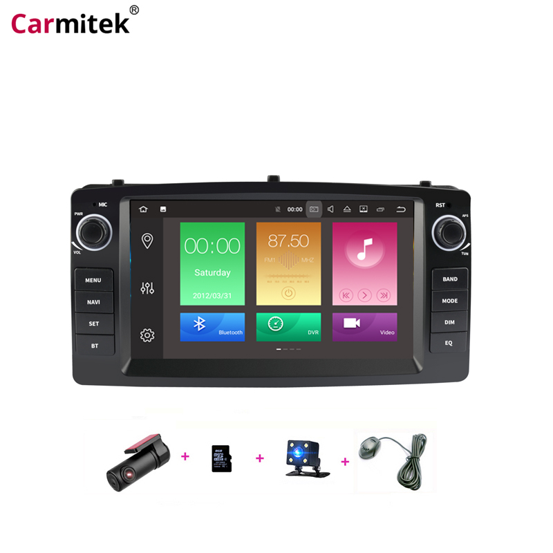 Car central Multimedia GPS Navigation Head Unit Radios Android for Toyota Altis <font><b>Corolla</b></font> <font><b>E120</b></font> 2000-2006 BYD F3 2 din DVD Player image