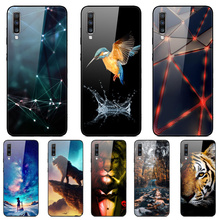 Tempered Glass Phone Case For Samsung Galaxy A70