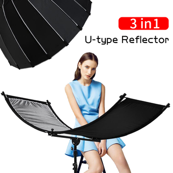 60x90cm 24x35 5 in 1 multi reflector photography studio photo oval collapsible light reflector handhold portable photo disc U-type 160*55cm 3 In 1 Reflector Collapsible Photography Light reflective screen for Studio Multi Photo Disc Diffuers acessorio