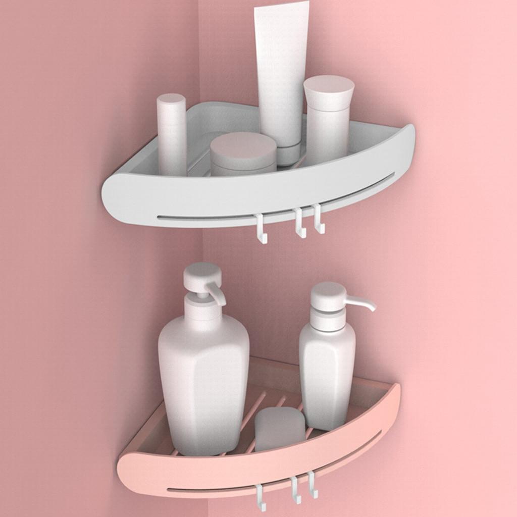 Estante Triangular de la ducha de la esquina del estante del organizador del sostenedor del almacenamiento del baño # T2