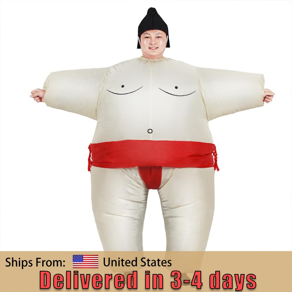 Sumo Inflatable Costume Cosplay Jumpsuit Unisex Suitable for adults and children Party Carnival Christmas Halloween Cosplay