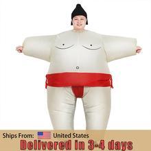 Sumo combinaison Costume gonflable unisexe, Cosplay adaptée aux adultes et aux enfants pour fête carnaval, noël, Purim Halloween