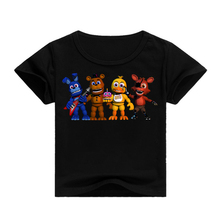 Five Nights at Freddy Kids T-Shirt Hip Hop Short Sleeve Top Cartoon Game Girls 3D