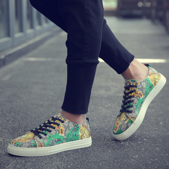 Tiger Print High Top Sneakers 6