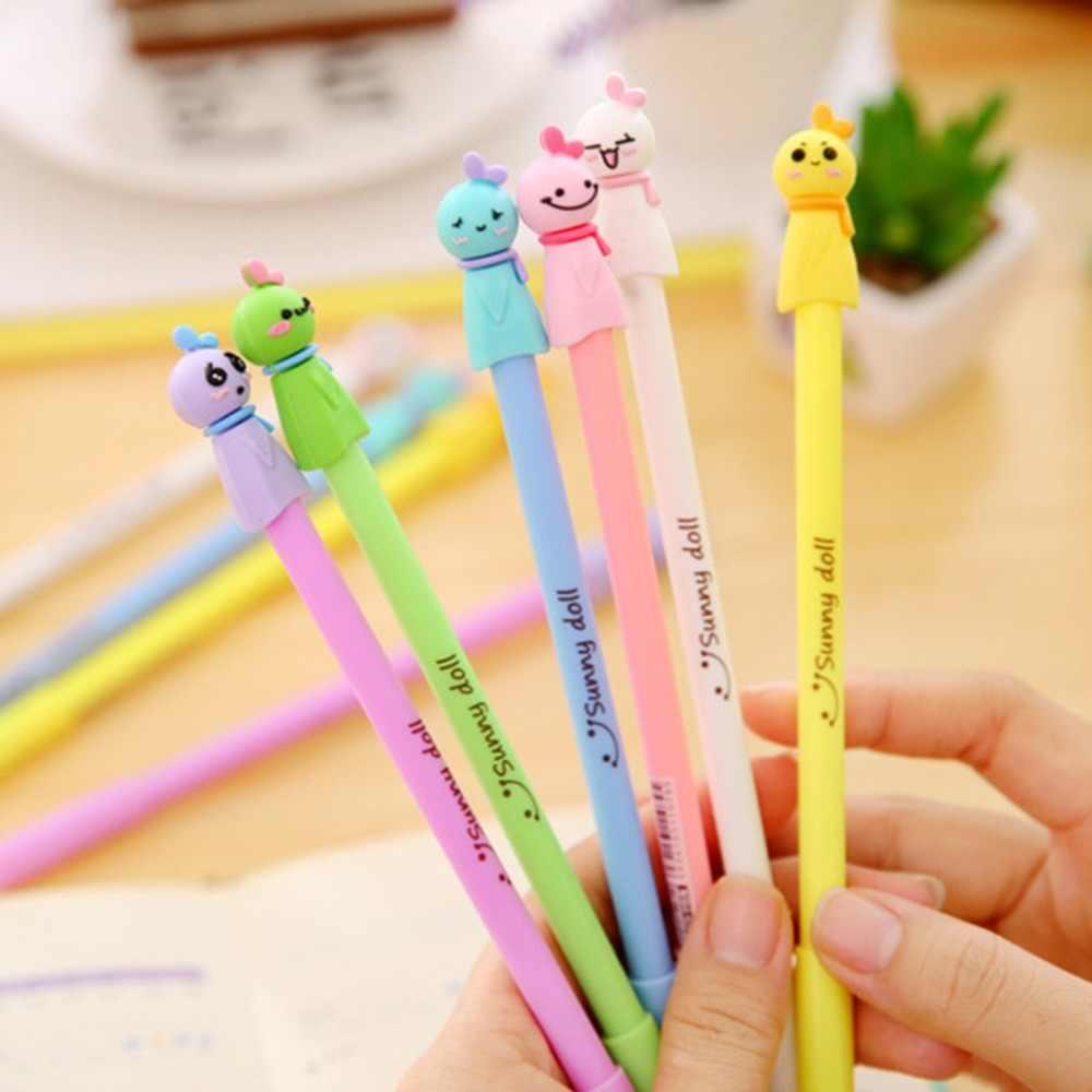 Small Size Cute Kawaii Cartoon Cat Pen 0.5MM Black Ink Gel Pen Ballpoint Pen for School Writing Office Stationery Supplies
