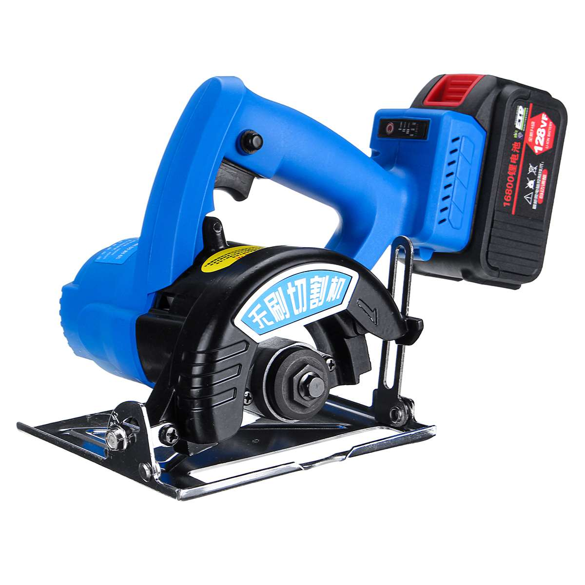 128VF 1000W Tile Cutting Machine Electric Circular Saw Brushless 125mm Blade Cordless Saw Woodworking Tools Rechargeable Power