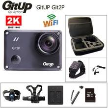Câmera de ação deportiva original gitup git2p novatek 96660 remoto ultra hd 2k wifi 1080p 60fps ir à prova dgitágua pro git2 p câmera