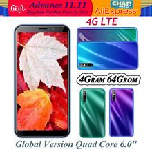 4G LTE Note20 Smartphones 4G RAM Quad Core Android Handy Globale 64G ROM 13MP HD Kamera 6.0