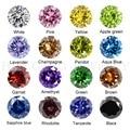 Кубический цирконий, камень, разноцветная круглая форма, бриллиантовая огранка, свободные CZ камни, бриллиантовые бусины для ювелирных изде...